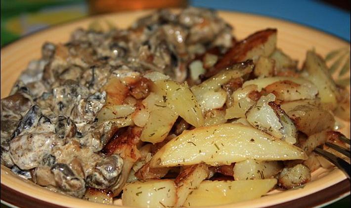 Comment faire cuire des champignons frais avec des pommes ...